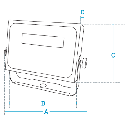 Размеры весовых индикаторов DMI-620